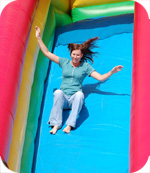 Slippin' and slidin' at Lee Campus Activity Day