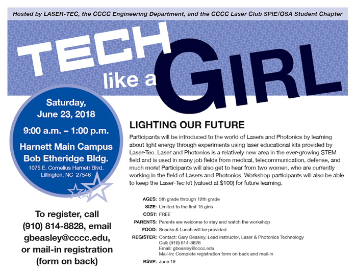 Tech Like A Girl workshop set for June 23